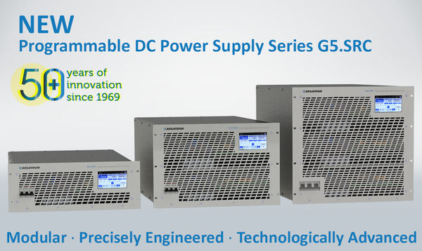 REGATRON's New Programmable DC Power Supply Series G5.SRC Offers Superior Performance. Best Choice for a Wide Range of Unidirectional Applications.
