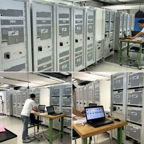 Factory Acceptance Test of a High-power Grid Simulator / Battery Simulator